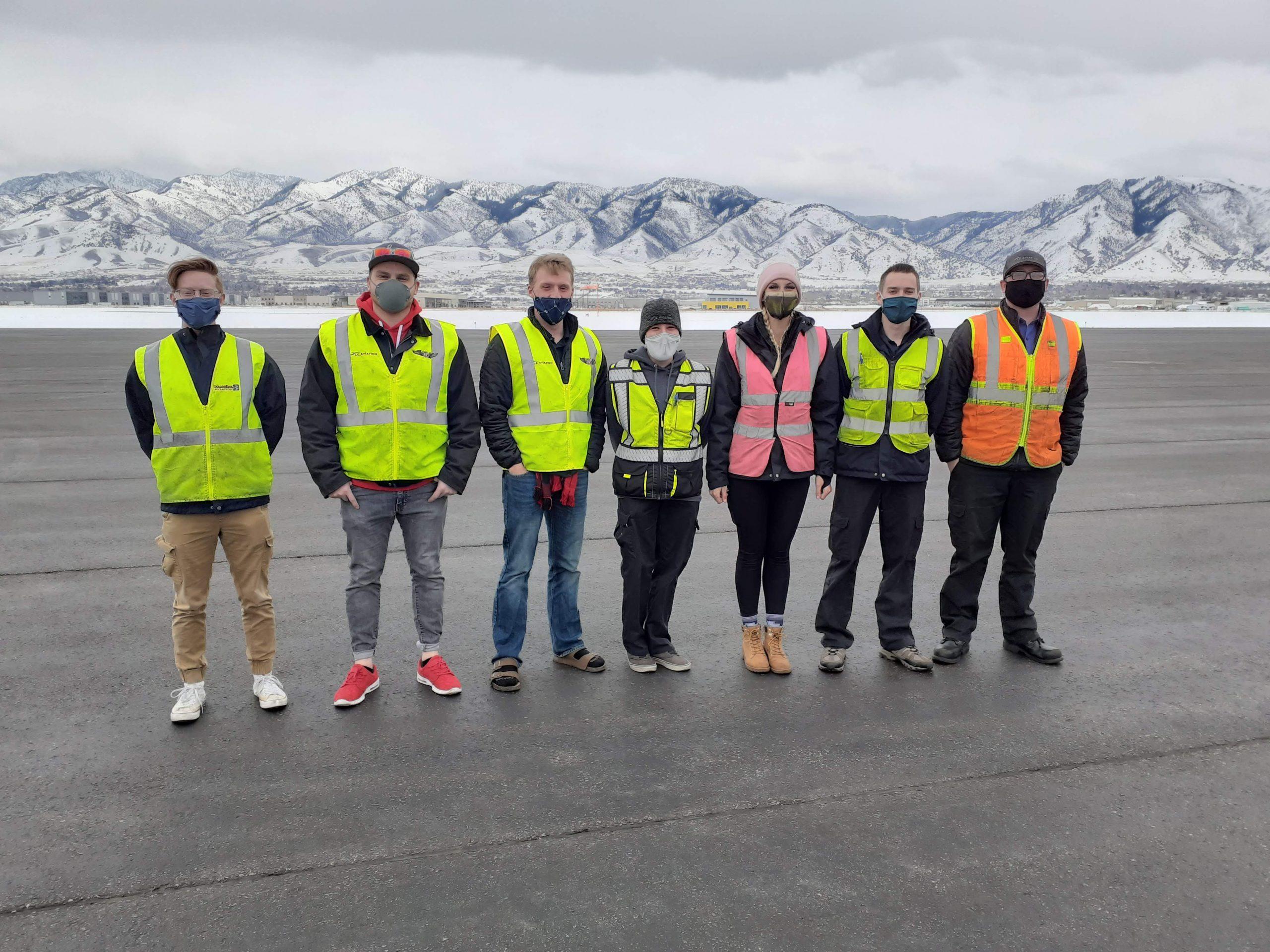 flight crew at LE Aviation